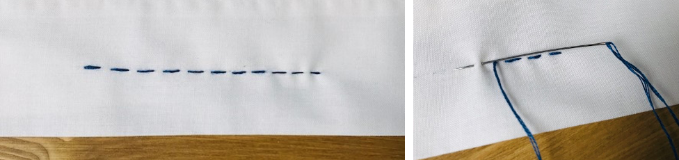 running stitch - how to sew